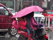六安城区迎来降雪
