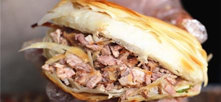 合肥最受欢迎的陕师傅肉夹馍 肉馅鲜美饼皮酥脆